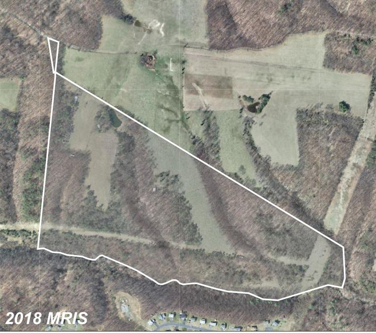 Unrestricted 79+ acres of 1/3 field and 2/3 wooded land. 30 ft right of way off Snyder Lane takes yo