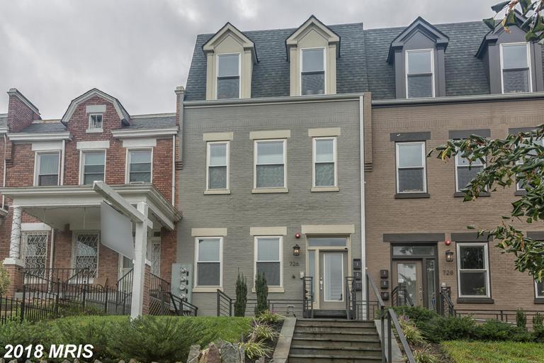 Fantastic 4 BR/4FB condo w/DC rowhouse feel in Columbia Heights. Open FP w/contemporary kitchen, mar